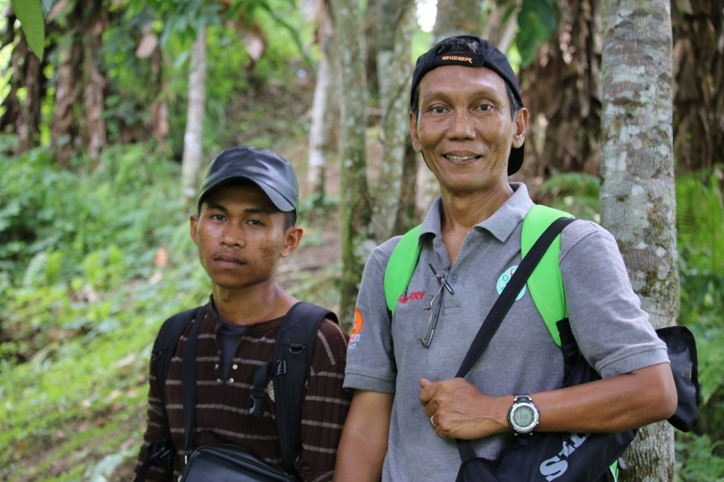 Orangutan Haven project manager Suherry (r) along with co-worker gave us a great tour of the future orangutan home